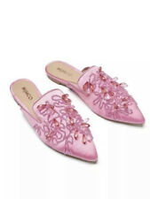 MIMCO : BNWOT Pink Embroidered Mules Size 38