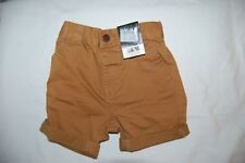 George Tan Shorts Turn Up/Down Legs Adjustable Waist 100% Cotton  2-3 Years BNWT