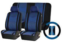 Blue Mesh Cloth Car Seat Cover Steering Glove fit Citroen C1 C2 C3 C4 Saxo Xara