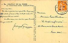 LA FERTE ST AUBIN CPA MANUSCRITE GEORGES GRAPPE GROUPE COLLABORATION PETAIN 1947