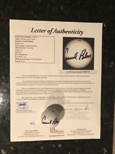 Arnold Palmer Signed Golf Ball & Full JSA Letter of Authenticity