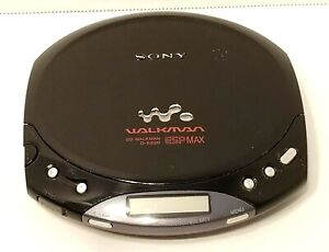 SONY Walkman Model D-E220 ESP MAX Portable CD Player Tested & Working