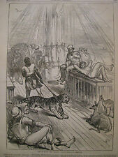 LIFE ON BOARD THE HMS SERAPIS PRINCE OF WALES INDIA, HARPER'S WEEKLY 1876