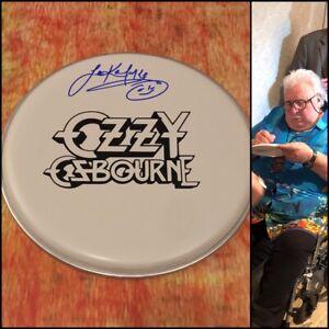 GFA Uriah Deep Ozzy Osbourne LEE KERSLAKE Signed Autographed Drumhead L4 COA