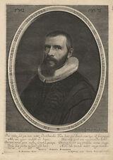 Portrait: Ludwig de Dieu (1590-1642) - Copperplate, syderhoef/dubordieu, C. 1650