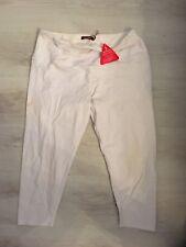 UK 18 white LADIES SAVIOUR 3/4 STRETCH leggings  CAPRI CROPPED TROUSERS  PANTS
