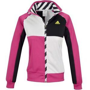 Adidas Mädchen Trainingsjacke Sport Jacke Sweatjacke Kinder pink/weiß/schwarz