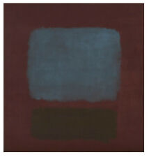 ABSTRACT PRINT No 37/No 19 (Slate Blue and Brown on Plum) 1958 Mark Rothko 14x11