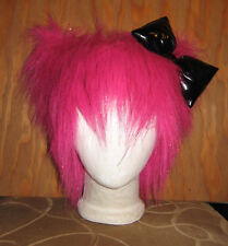 HELLO KITTY BIG BOW FUR PINK PUSSY CAT HAT WIG COSTUME BURNING MAN FESTIVAL WIG
