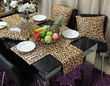 10 Leopard Table Runners 12''x108'' Safari Animal Print Satin Cheetah Wedding