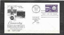 1960 US Artcraft FDC Scott #1173 Communication Satellite Echo I Unaddressed