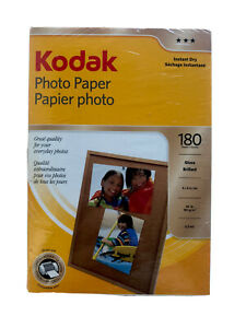 Kodak Photo Paper Gloss Brilliant 180 Sheets Instant Dry  4 X 6 Inches 180 GSM