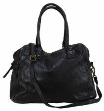 Bozana Bag Lue nero Italy Designer Leder Shopper Tasche Damen Handtasche Neu