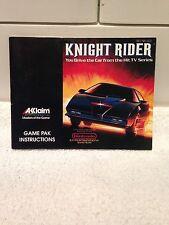 Knight Rider notice  ( Nintendo NES )
