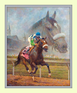 Beloved Barbaro America's Horse  Fred Stone 11x14 Double Matted 8x10 Art Print