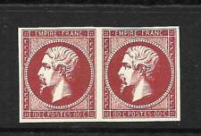 FRANCE  1853-61  80c   NAPOLEON  PROOFS  COLOUR TRIAL PAIR  MNG    SG 68