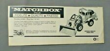 PUB PUBLICITE ANCIENNE ADVERT CLIPPING 300419 / TRACTEUR PELLE HATRA MATCHBOX