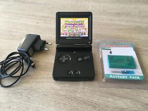 Game Boy Advance SP AGS 101 Ecran Retro Eclairé TBE + Mario Kart Super Circuit