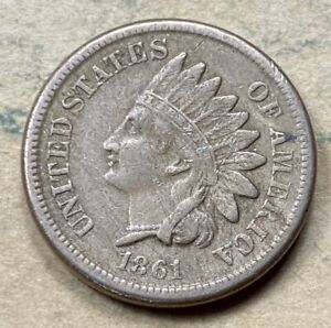 1861 Indian Cent  VF