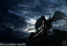 Gothique angel waiting for the storm to pass photo poster cadeau home art print