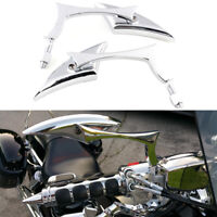 CHROME CNC BLADE MOTORCYCLE CRUISER CHOPPER REARVIEW MIRRORS FOR HONDA VTX1300C