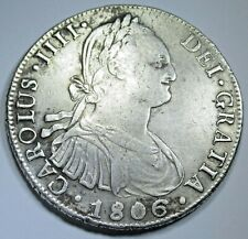 1806 Spanish Bolivia Silver 8 Reales Antique 1800's Colonial Dollar Pirate Coin