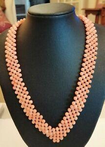 Vintage coral V collar necklace  33 gms