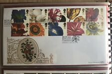 1997 Greetings Flowers Royal Botanic Gardens GOLD 500 (123) FDC Edinburgh SHS