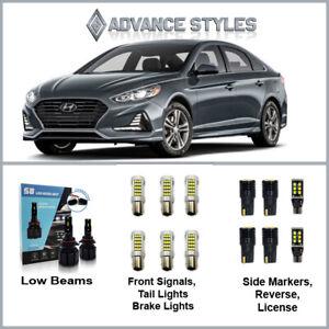 Fit 14-18 Hyundai Sonata Low Beams and Exterior LED Light Conversion