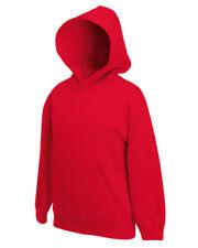 Felpe con cappuccio rossi marca Fruit of the Loom per bambine dai 2 ai 16 anni