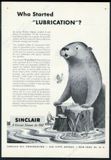 1953 happy otter art Sinclair oil gas vintage print ad