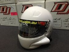DJ Safety / Pyrotec Full Face Forced Air White Helmet Large SA2010