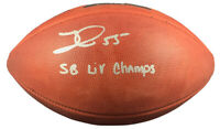 Frank Clark autographed signed inscribed authentic football KC Chiefs Beckett