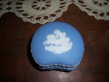 Vanity Trinket Wedgewood Box Blue Jasperware