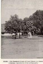 IMAGE 1893 PRINT NIGER ONITCHA SIR FREDERICK LUGARD LADY MISSION