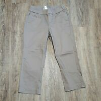 Lee Style Up Women's Capri Pull on Pants ~ Sz 4 ~ Light Brown ~ Stretch Waist