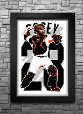 BUSTER POSEY art print/poster SAN FRANCISCO GIANTS FREE S&H! JERSEY