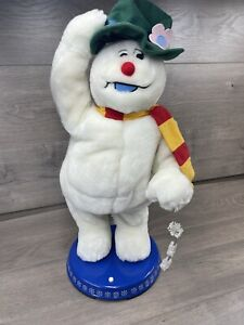Gemmy Spinning Snowflake Frosty the Snowman Animatronic READ