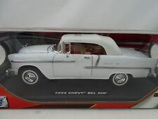 1:18 Motormax - 1955 Chevy Bel Air Blanco - Rareza Nuevo / Embalaje Original
