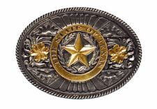 The State Of Texas Gold & Silver Plated Belt Buckle