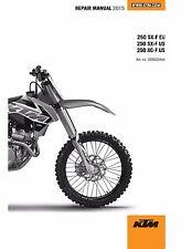 KTM Service Workshop Shop Repair Manual Book 2015 250 SX-F