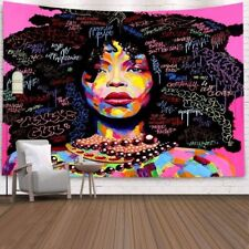 African Afro Queen Women Tapestry Hippie Wall Hanging Art Home Decoration Gift