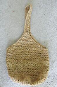 Vintage   HELEN KAMINSKI  Madagascar Raffia Natural  Shoulder Bag