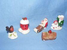 Christmas Cake Decorations Robin Santa Decoration Figure Ornament Vintage