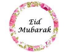35 Eid Mubarak Stickers Floral Muslim Islam Ramadan Decorations Gift 208