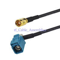 FAKRA Female RA to SMB jack Auto Car Radio GPS Navigation Antenna adapter cable