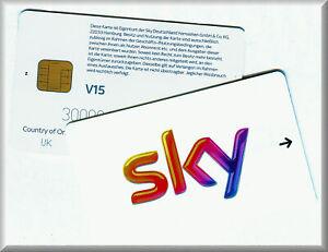 SKY-Karte Smartcard V15 !!  mit PIN -  TOP-Zustand !!