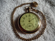 Dfbco Gold Filled Chain 2-5/8oz 160-4Pw23 Illinois Gold Filled Pocket Watch The