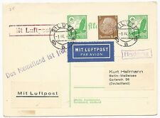 Germany Scott #c46 x2 #401 on Air Mail Cover April 1, 1939