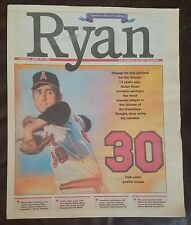 Nolan Ryan Lot (4) The National, Orange Cnty Register, Fort Worth Star-Telegram